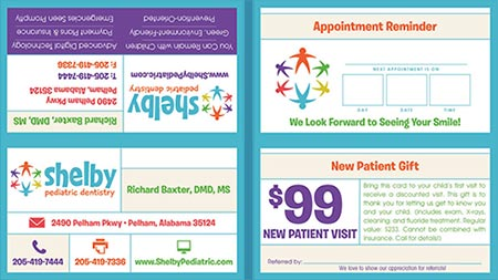 Shelby Pediatric Dentistry Referral Card