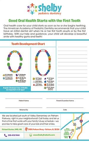 Tots To Teens Dental Development Chart Practice Cafe
