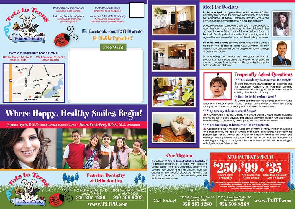 Tots To Teens Dental Postcard Practice Cafe