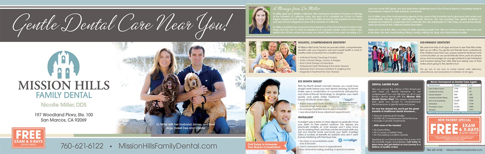 Mission Hills Family Dental Mailer by Practice Cafe