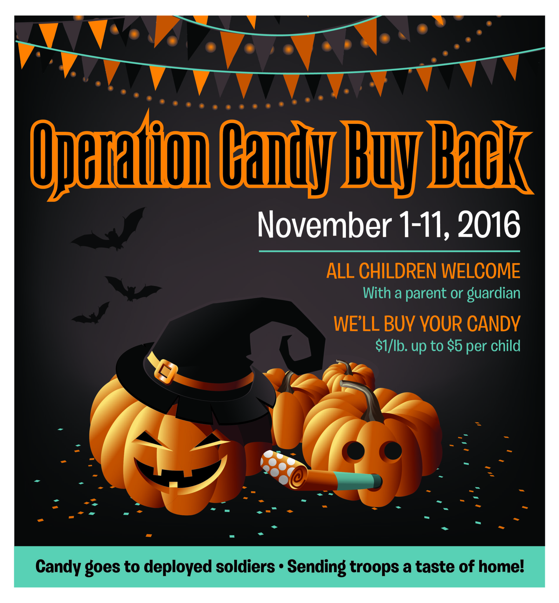 halloween candy buy back practice cafe dental marketing flyer