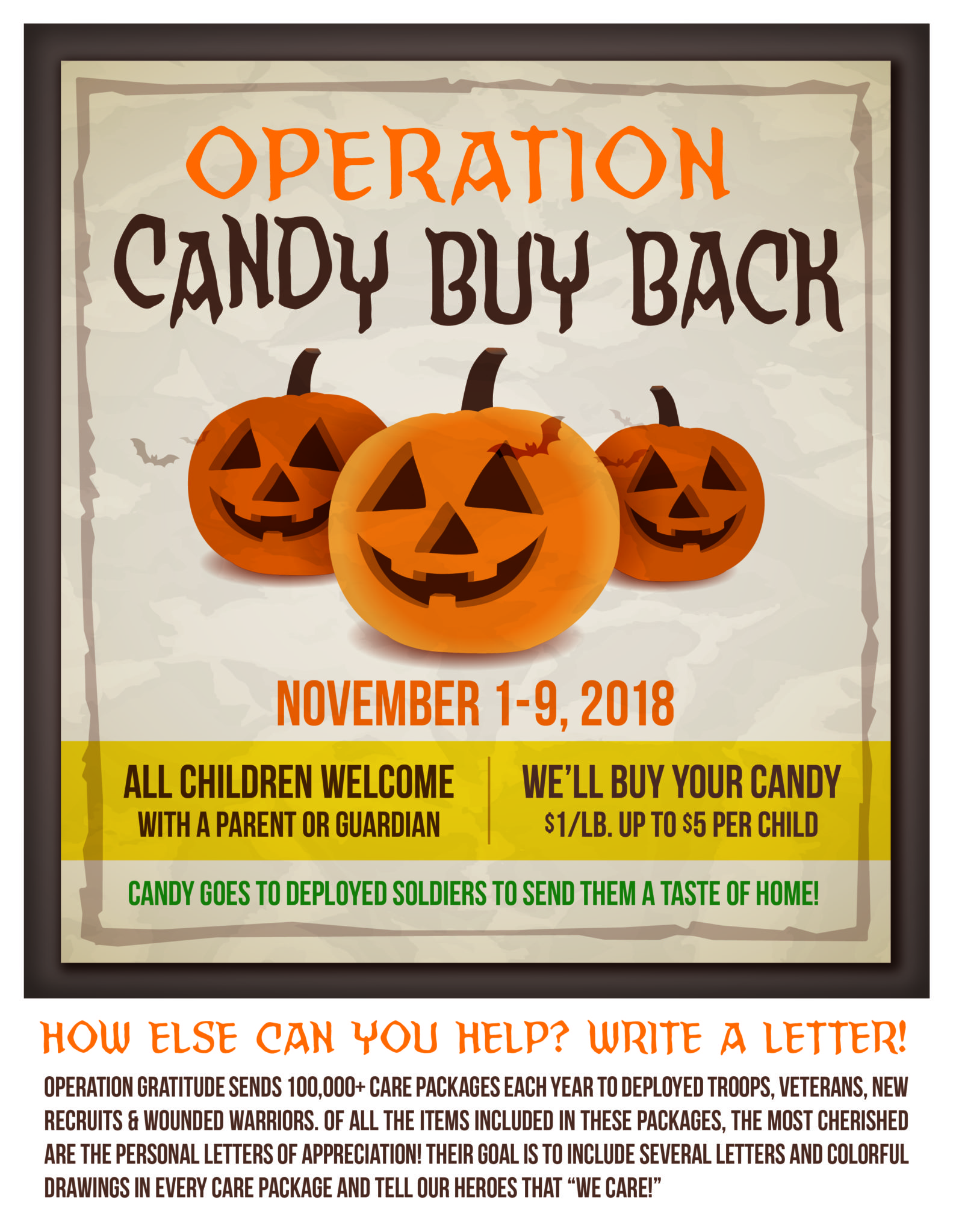 Halloween Candy Buy Back Practice Cafe Dental Marketing