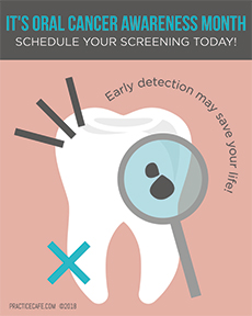 Oral Cancer Awareness Month Poster