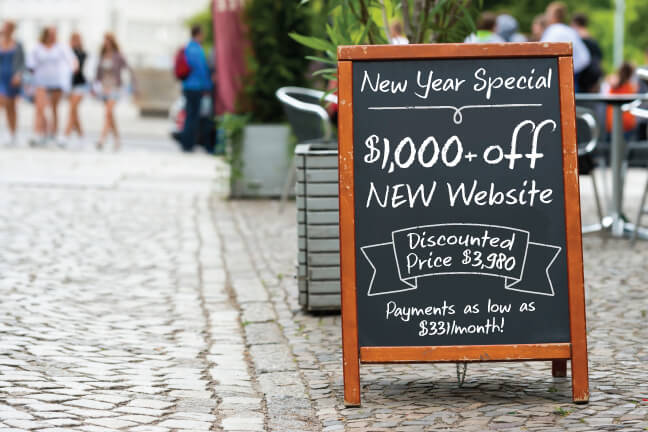 $1000 off new, 10-page custom dental website.