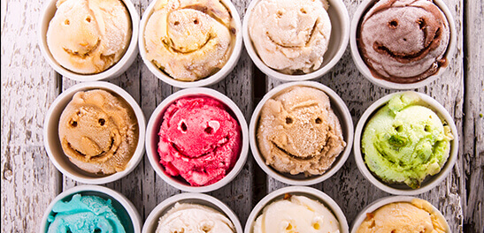 Smiley face ice cream