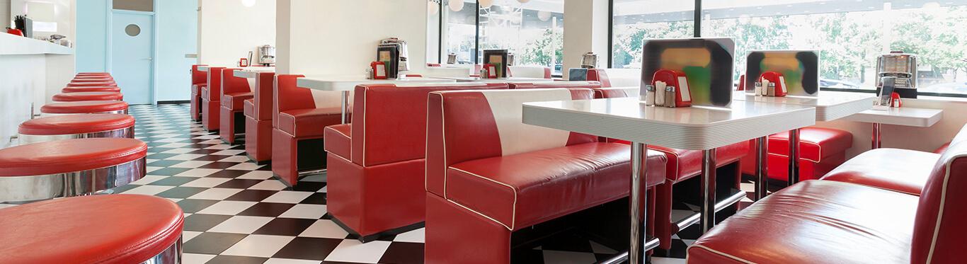 Inside of a diner