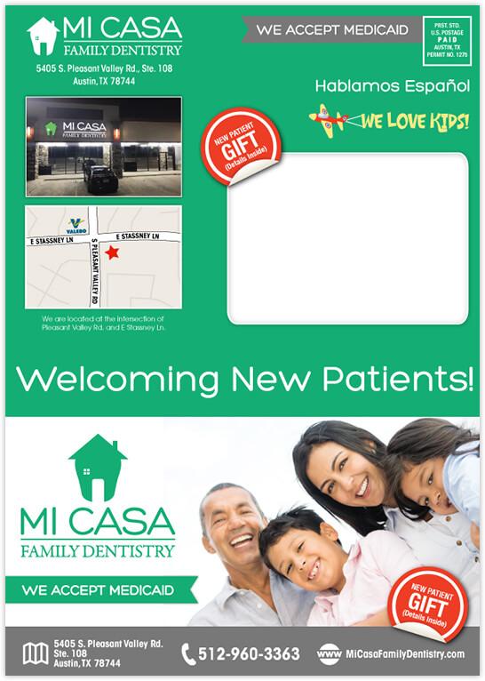 Ganesh - Mi Casa Family Dentistry 4 Panel Postcard Front
