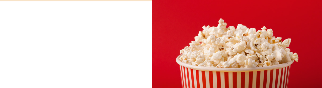 Popcorn in red and white bucket