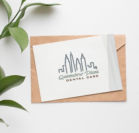Mockup of Queensboro Plaza's notecard design