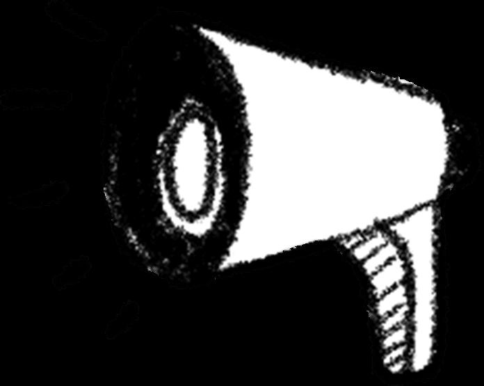 Animated megaphone