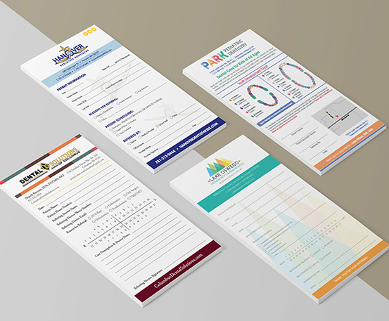 Examples of several referral pads