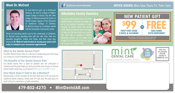 McCord - Mint Dental Care postcard back