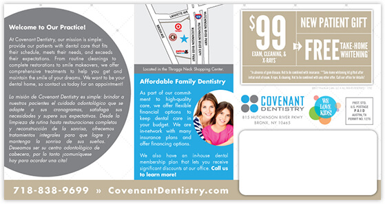 Omoyeni - Covenant Dentistry postcard back