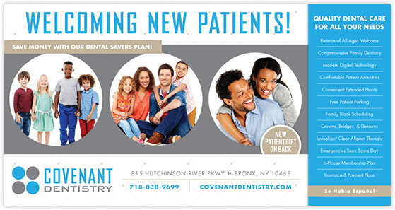 Omoyeni - Covenant Dentistry postcard front