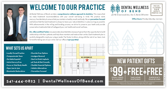 Tucker - Dental Wellness of Bend postcard back