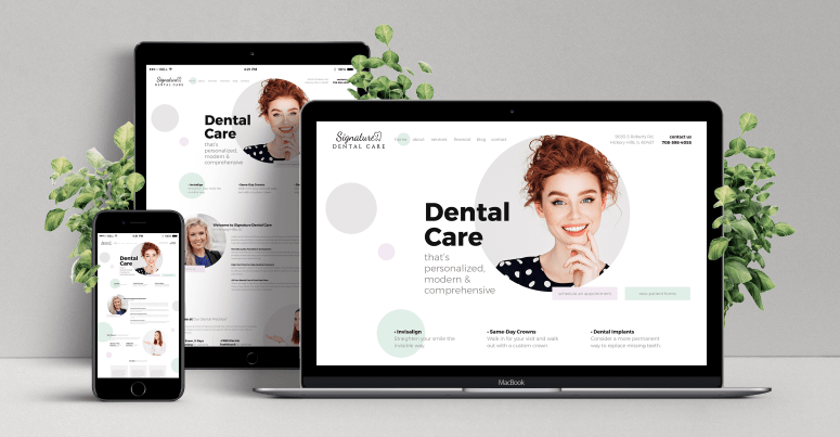 Signature Dental Care Responsive Website